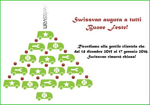 Swissvan augura buone feste a tutti!